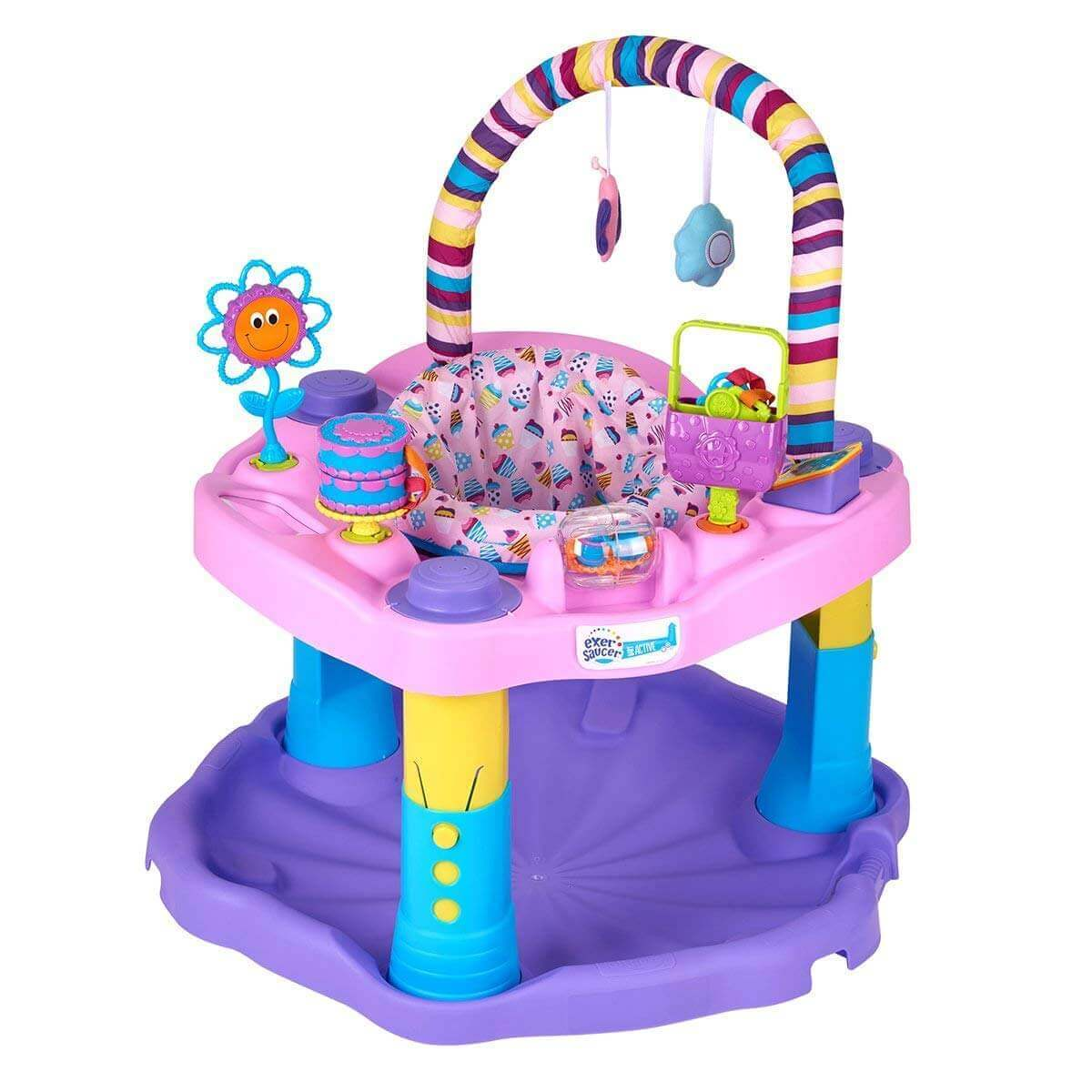 Image of a Evenflo Bounce And Learn baby jumper on white background.