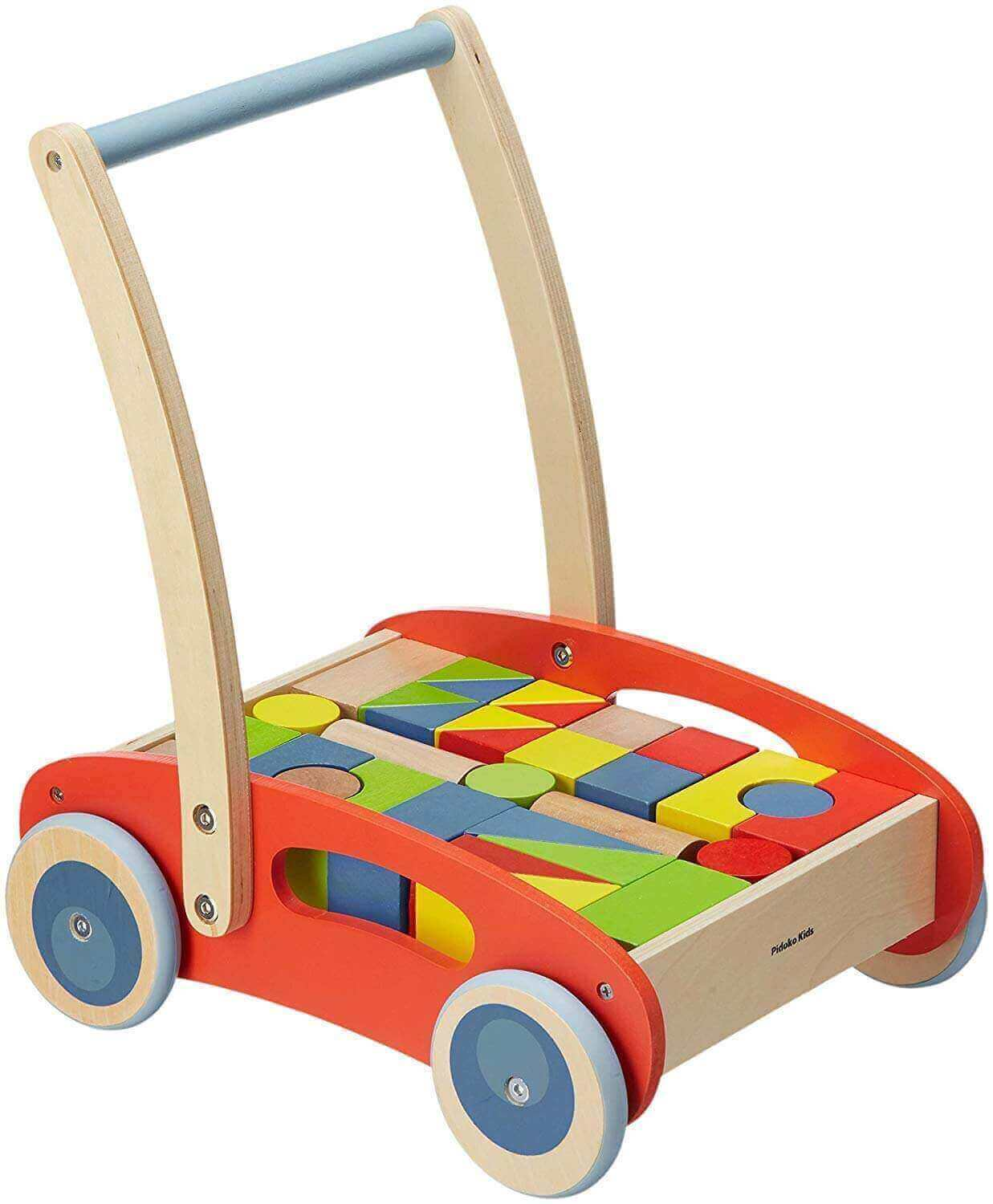 Image of Pidoko Kids Block and Roll Cart on white background