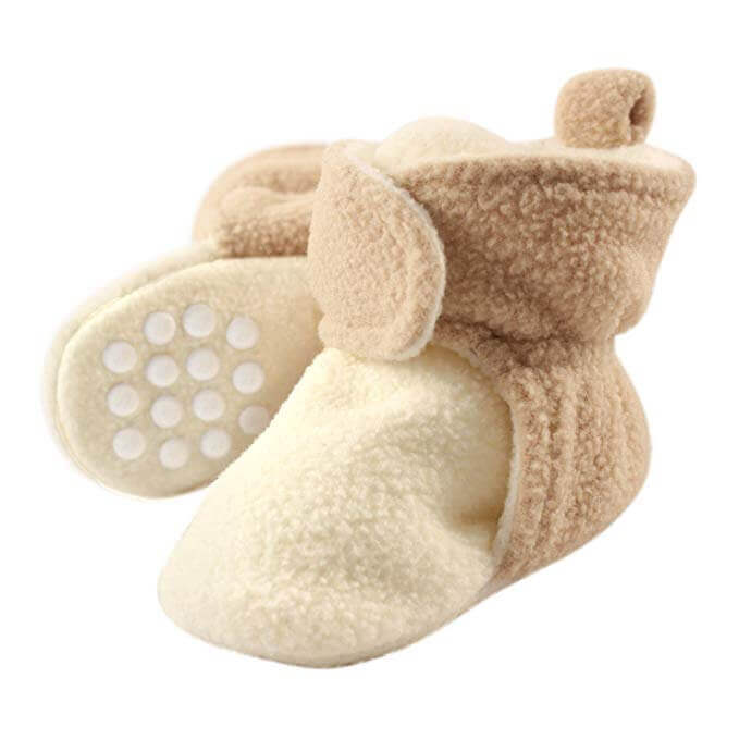 Image of Luvable Friends Baby Cozy Fleece Booties on white background