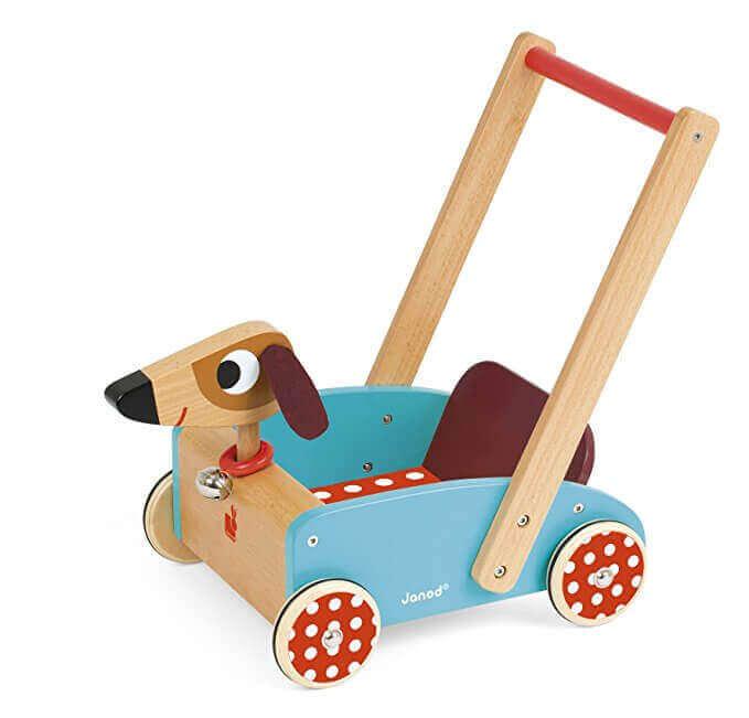 Image of Janod Crazy Doggy Cart on white background