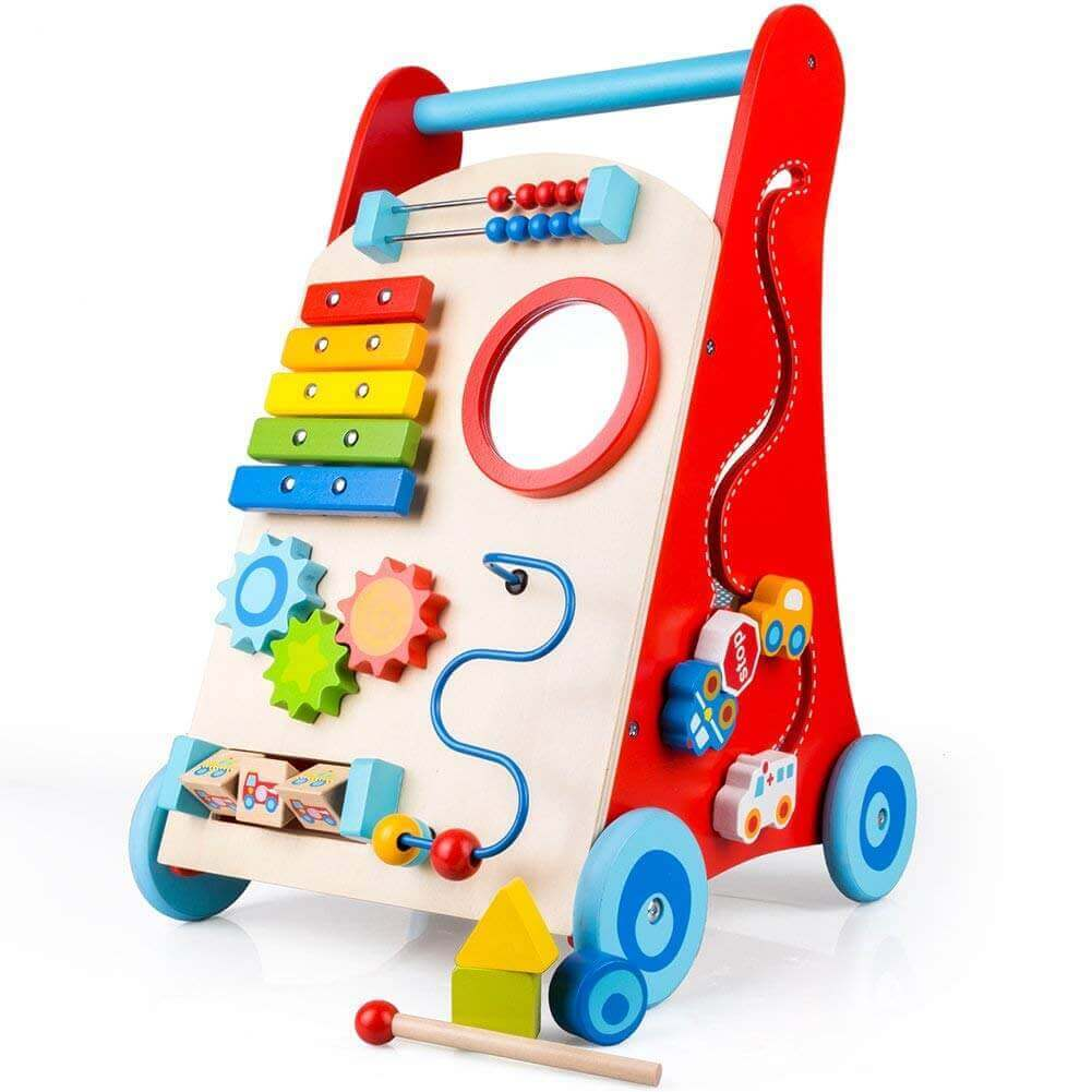 Image of COSSYs Wooden Baby Walker on white background