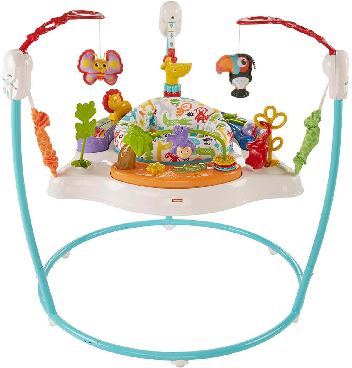 Image of a Fisher-Price Animal Activity Jumperoo on white background.