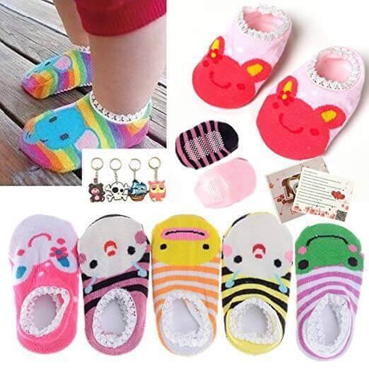 Image of Fly-love 5 Pairs Baby Anti Slip Socks