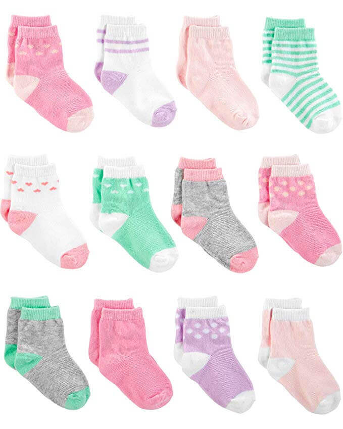 Image of 12 pairs of baby socks