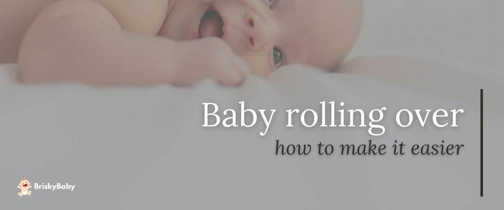Baby rolling over and smiling