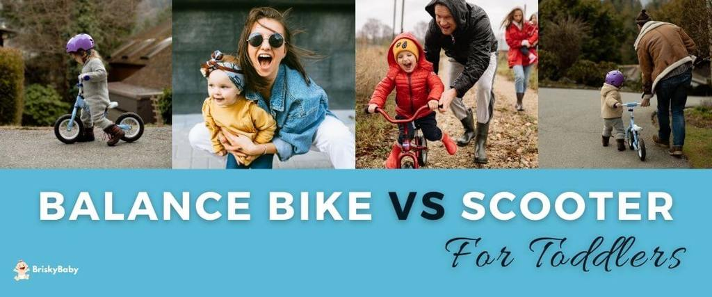 Balance bike vs scooter for toddlers